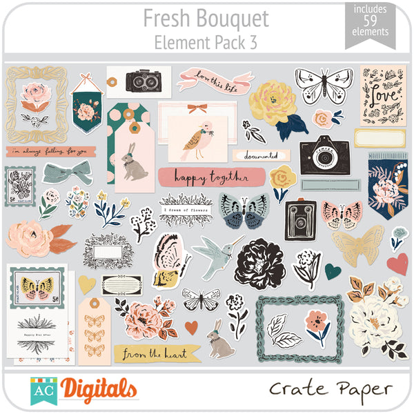 Fresh Bouquet Element Pack 3