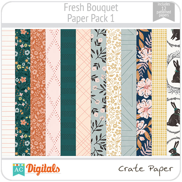 Fresh Bouquet Paper Pack 1