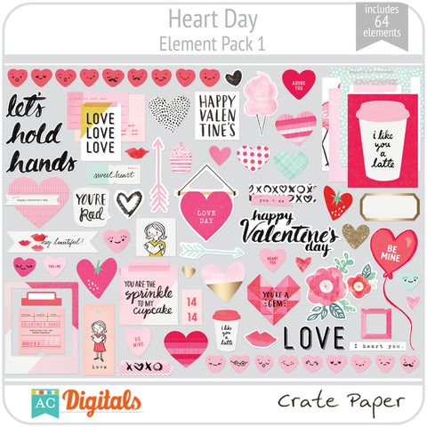 Heart Day Element Pack 1
