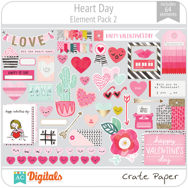 Heart Day Element Pack 2