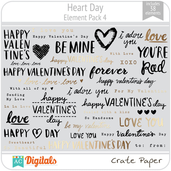 Heart Day Element Pack 4