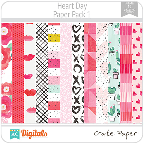 Heart Day Paper Pack 1