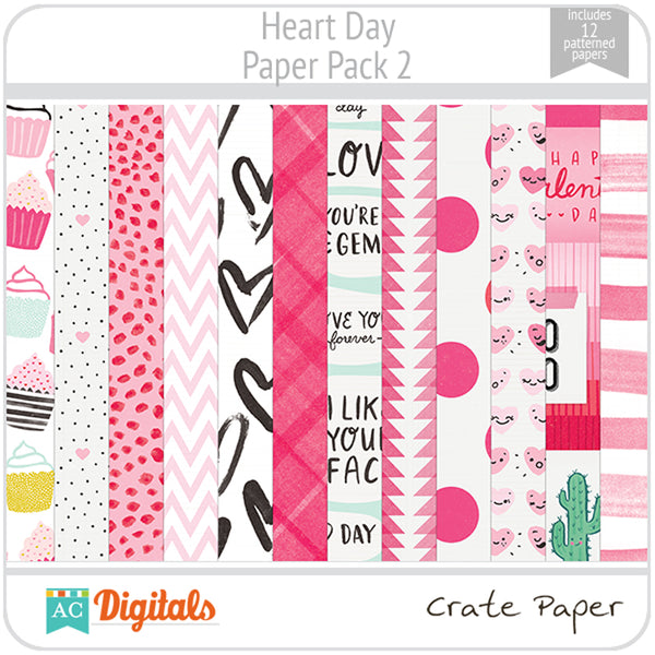 Heart Day Paper Pack 2