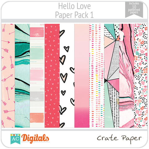 Hello, Love Paper Pack 1