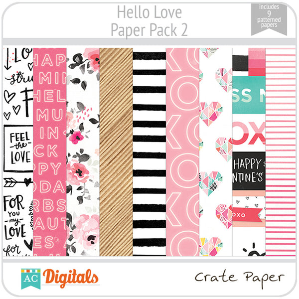 Hello, Love Paper Pack 2