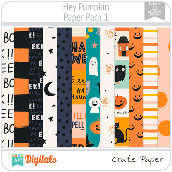 Hey Pumpkin Paper Pack 1