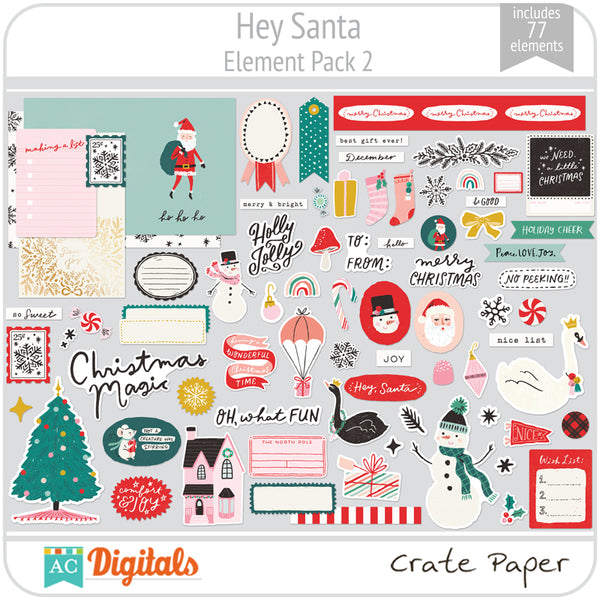 Hey Santa Element Pack 2