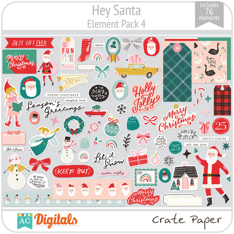 Hey Santa Element Pack 4