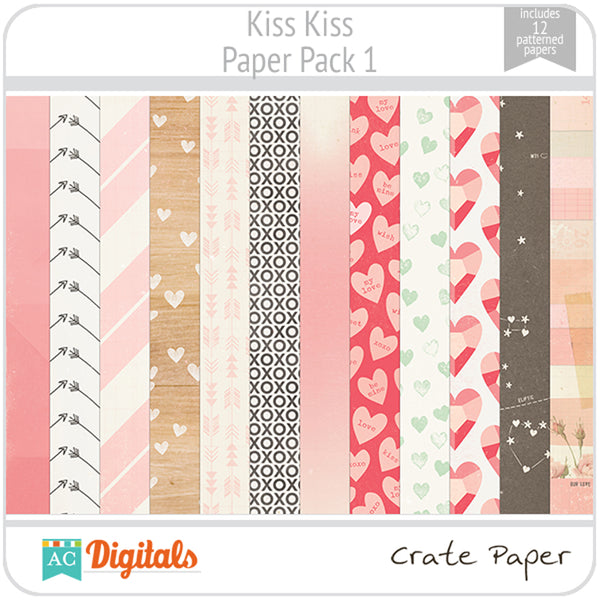 Kiss Kiss Paper Pack 1