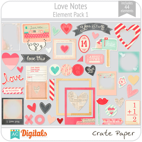 Love Notes Element Pack 1
