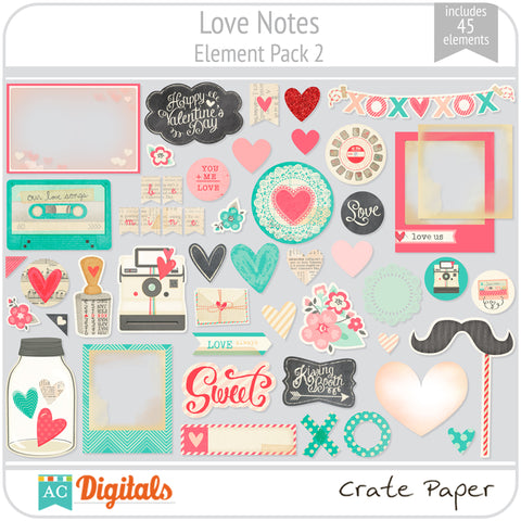 Love Notes Element Pack 2