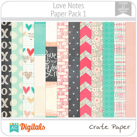 Love Notes Paper Pack 1