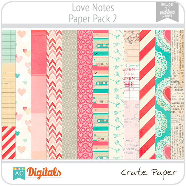 Love Notes Paper Pack 2