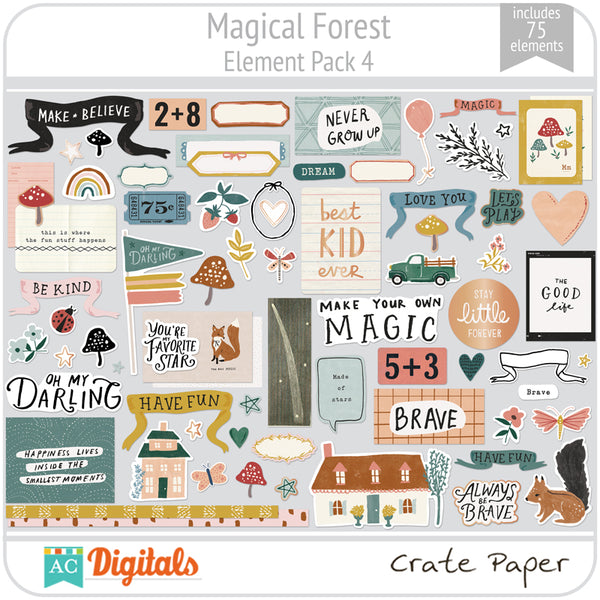 Magical Forest Element Pack 4