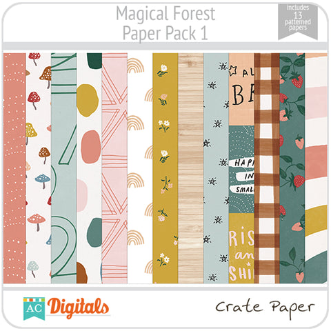 Magical Forest Paper Pack 1