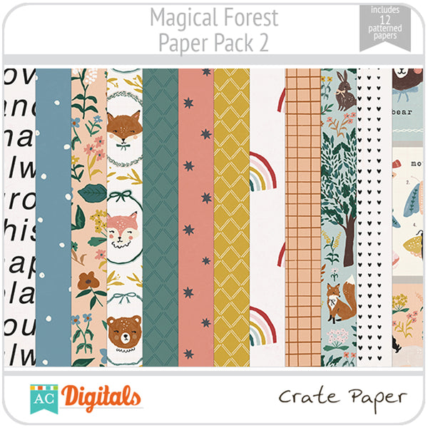 Magical Forest Paper Pack 2