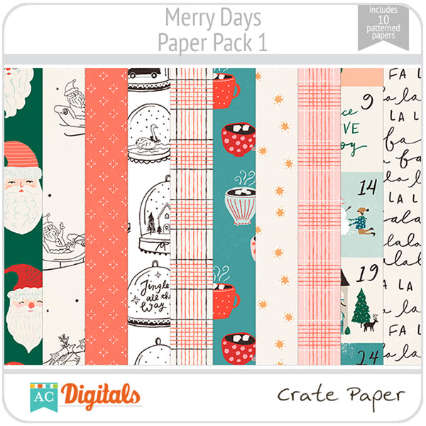 Merry Days Paper Pack 1