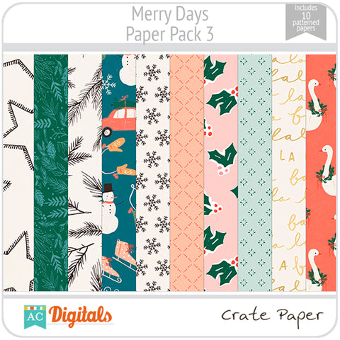 Merry Days Paper Pack 3