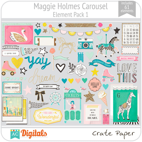 Maggie Holmes Carousel Element Pack 1