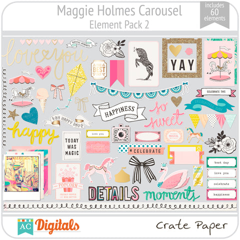Maggie Holmes Carousel Element Pack 2