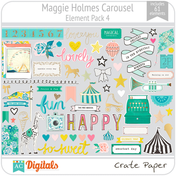 Maggie Holmes Carousel Element Pack 4