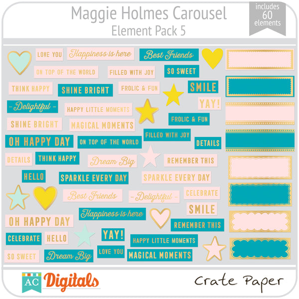 Maggie Holmes Carousel Element Pack 5