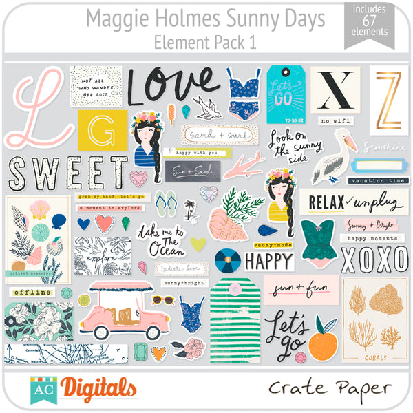 Maggie Holmes Sunny Days Element Pack 1