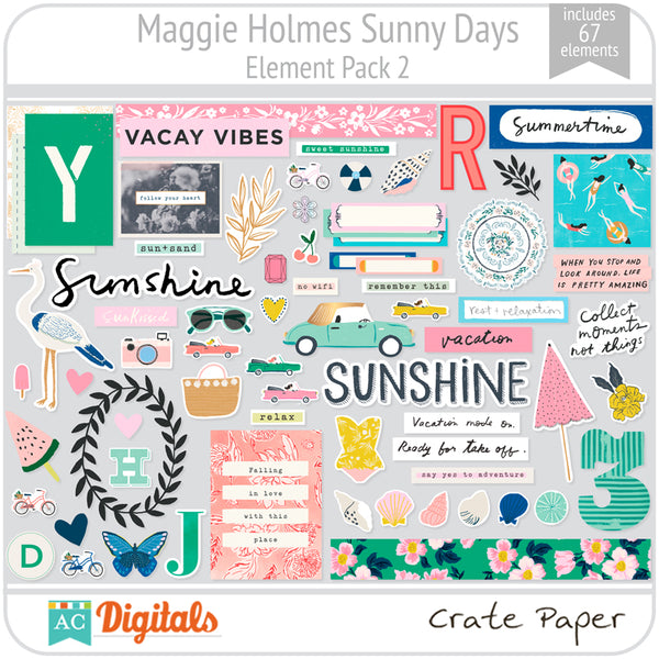 Maggie Holmes Sunny Days Element Pack 2