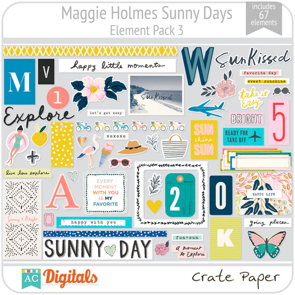 Maggie Holmes Sunny Days Element Pack 3