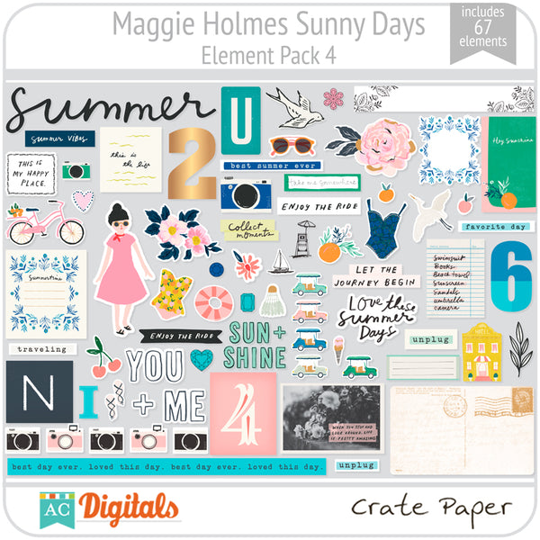Maggie Holmes Sunny Days Element Pack 4