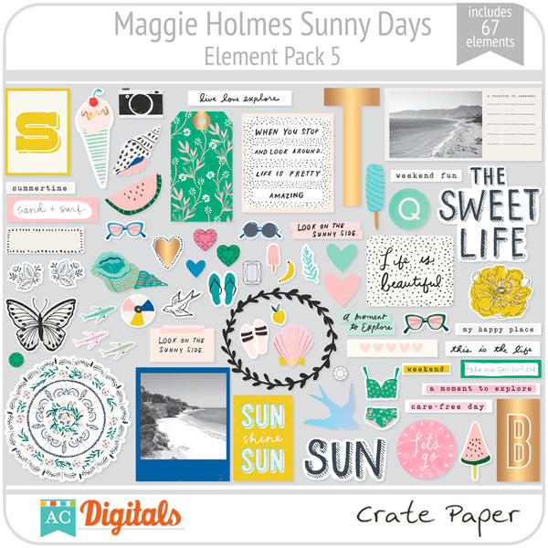 Maggie Holmes Sunny Days Element Pack 5
