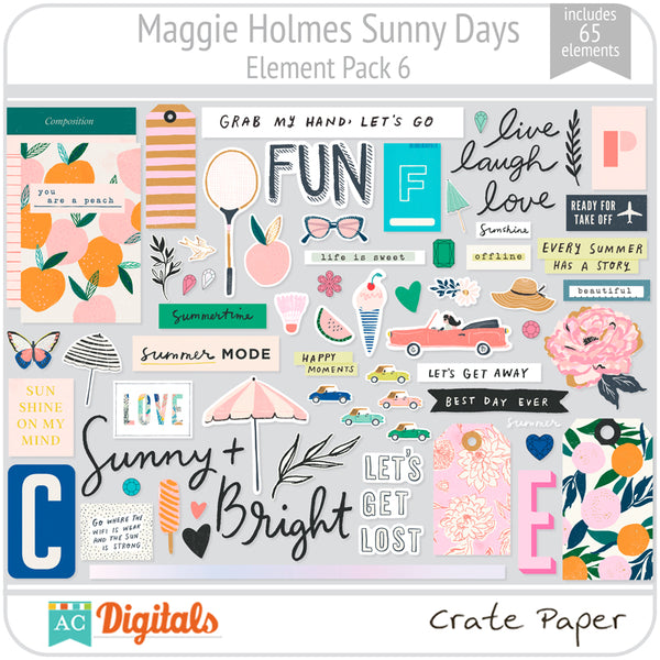 Maggie Holmes Sunny Days Element Pack 6