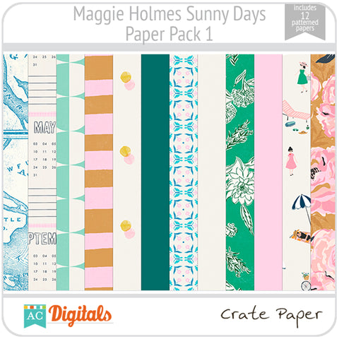 Maggie Holmes Sunny Days Paper Pack 1