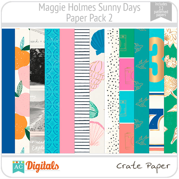 Maggie Holmes Sunny Days Paper Pack 2