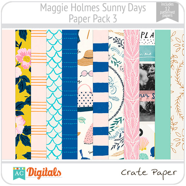 Maggie Holmes Sunny Days Paper Pack 3