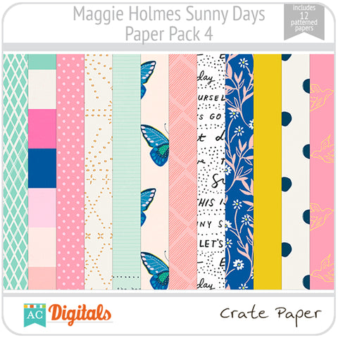Maggie Holmes Sunny Days Paper Pack 4