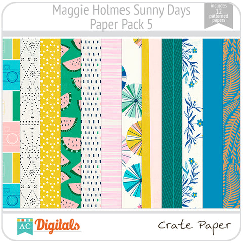 Maggie Holmes Sunny Days Paper Pack 5