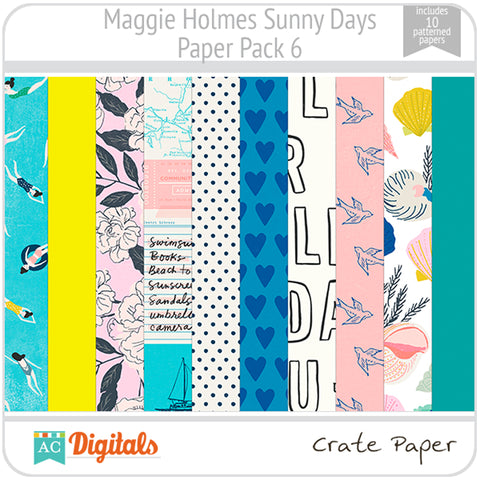 Maggie Holmes Sunny Days Paper Pack 6