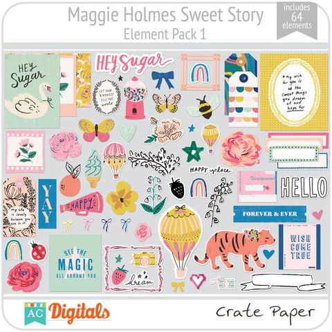 Maggie Holmes Sweet Story Element Pack 1