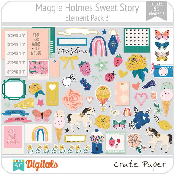 Maggie Holmes Sweet Story Element Pack 3