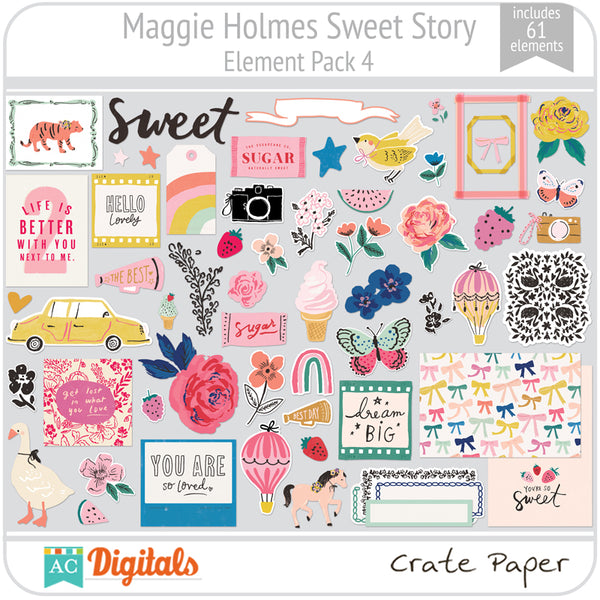 Maggie Holmes Sweet Story Element Pack 4