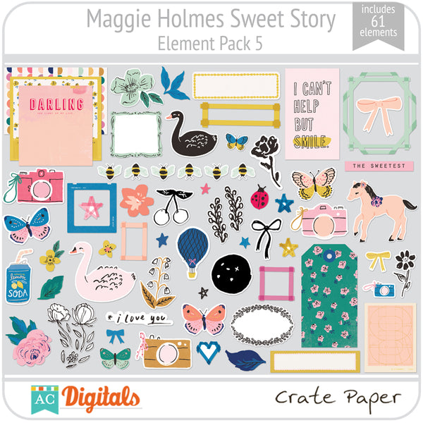 Maggie Holmes Sweet Story Element Pack 5