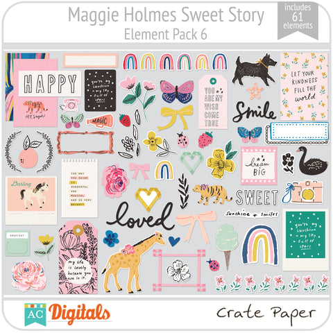 Maggie Holmes Sweet Story Element Pack 6