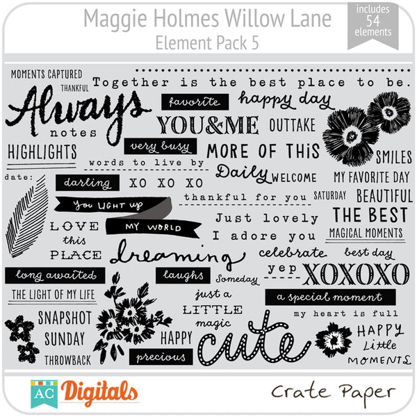Maggie Holmes Willow Lane Element Pack 5