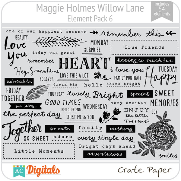 Maggie Holmes Willow Lane Element Pack 6