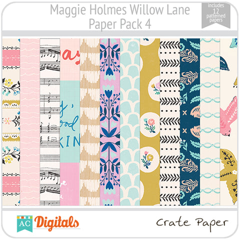 Maggie Holmes Willow Lane Paper Pack 4