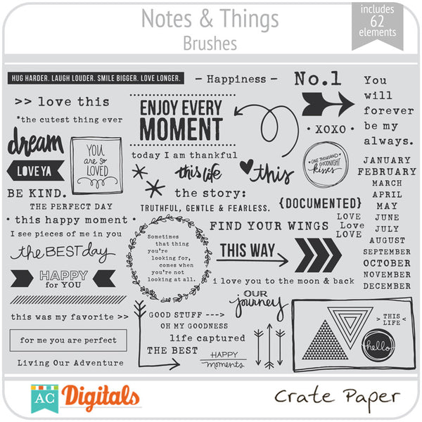 Notes & Things Brushes