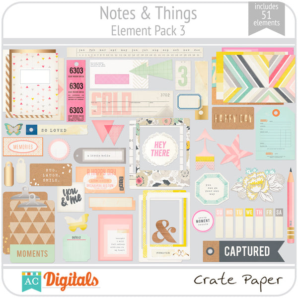 Notes & Things Element Pack 3