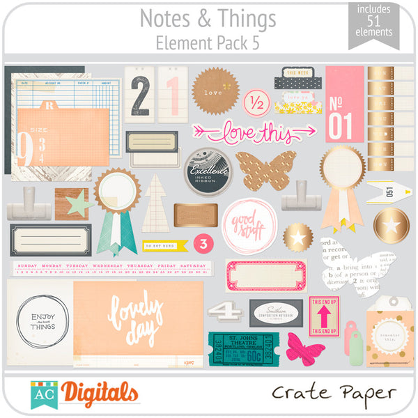 Notes & Things Element Pack 5