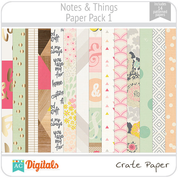 Notes & Things Paper Pack 1
